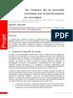 [PAPER] CEREMA Davi & Vion [201x FR] Evalutation de l'Impact de La Nouvelle Législation Sismique Sur La Performance Et Le Coût Des Ouvrages