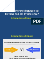 Difference Between Call by Value and Call by Reference