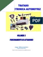 Tratado de Electrónica Automotriz - Funcionamiento de Actuadores