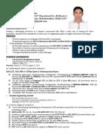 Resume of Ratul