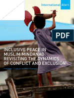 Inclusive Peace in Muslim Mindanao Revisiting the Dynamics of Conflict and Exclusion