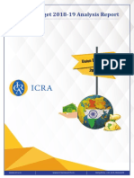 ICRA Union Budget 2018 Analysis Report, Feb 02, 2018