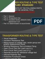 Transformer Routine Test