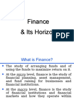 MBA Finance and Horizon