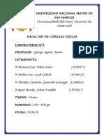 Informe 2 Laboratorio Fisica I