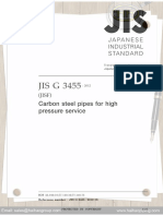 JIS-G3455 - Carbon Steel Pipes for High Pressure Service