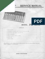 Sharp Pc-1245 Service Manual