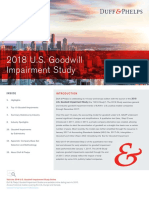 2018 US Goodwill Impairment Study