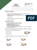 Prueba de resolución de ecuaciones  sexto básico