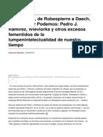 [Florence Gauthier] El « Terror », De Robespierre a Daech, Pasando Por Podemos
