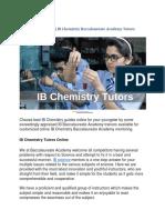IB Chemistry Tutors   IB Chemistry Baccalaureate Academy Tutors Online