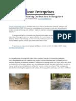 Industrial Flooring Contractors in Bangalore