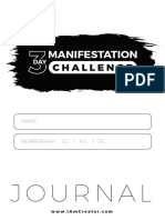 3 Day Challenge Journal