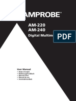AM 220 AM 240 Digital Multimeters Manual