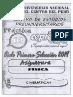 Fisica 2 Cinematica i Ejercicios