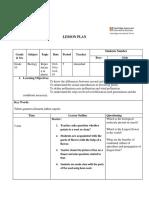 Grade 10 Science Lesson Plan 1