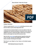 Bodybuilding Home-Made Protein Bars