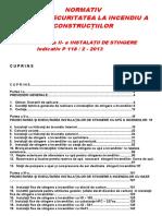 P 118 II 2013 - Instalatii de Stingere Cf Ordin-MDRAP-nr-6026 2018