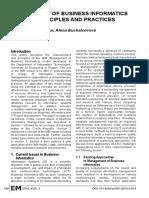 Management model of Business Informatics