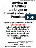 Gajaria,PPT brief Guide online, Overview and   Prevent Shock and Fire in Low Voltage Electrical Installations in Residential Buildings as per IEC 60364 and British Standard 7671;2018.pptx
