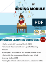 Self Learning Module