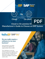 Cloud Vs On Premise - Manufacturer's Guide to Choose an ERP System | OptiProERP