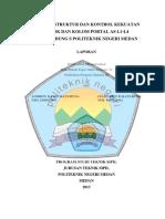 Analisa Struktur Dan Kontrol Kekuatan Balok Dan Kolom Portal