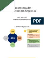 Perencanaan dan Pengembangan Organisasi