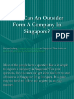 How Can an Outsider Form a Company in Singapore