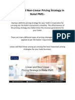 Linear and Non-Linear Pricing Strategy In Hotel PMS - Pure Automate