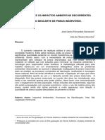 Os Processos e Os Impactos Ambientais Decorrentes Do Descarte de Pneus Inservíveis
