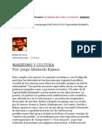 Jorge Abelardo Ramos, CULTURA y MARXISMO