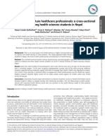 2019 - Budhathoki Et Al. - Health Literacy of Future Healthcare Professionals a Cross-sectional Study Among Health Sciences Students In