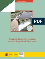 Guia Para El Proyecto y Ejecución de Obras de Señalizacion Horizontal