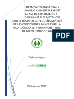 Estudio de Impacto Ambiental de la Cooperativa de Producción Minera Bella Rica