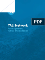 YALI Public Speaking Advice and Checklist