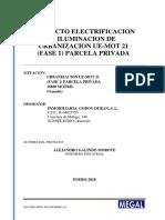 00.2 Proyecto Electricidad Fase 1 Parcela Privada