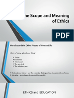 The Scope and Meaning of Ethics