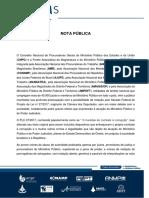 Nota Pública CNPG e FRENTAS - PLC 27-2017
