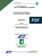 Informe Comprecion a La Fibras de La Madera