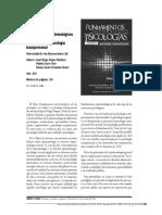 Epistemología de las psicologias