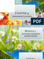 Chapter 4 Curriculum Evaluation