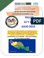 II Taller 12 y 13 Julio Hbba.2019
