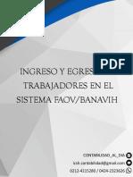 Faov Ingreso y Egreso de Trabajadores