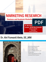 Early Phases of Market Research