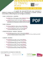 Perturbations du trafic des TER en Centre-Val de Loire à partir du 26 juin