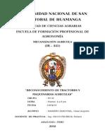 RECONOCIMIENTO DE TRACTORES Y  MAQUINARIAS AGRICOLAS