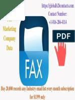 Singapore Fax Marketing Company Data
