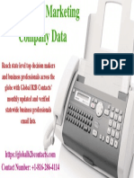 Taiwan Fax Marketing Company Data