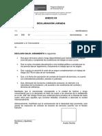 Anexo 04 - Declaración Jurada